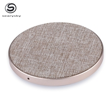 Tessuto <span class=keywords><strong>mobili</strong></span> incorporato 5 v 2a <span class=keywords><strong>qi</strong></span> wireless charger pad