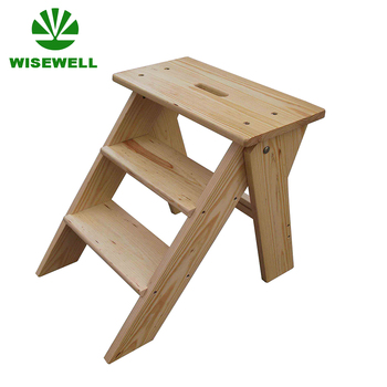 Sensational W C 1223 Solid Pine Wood 3 Step Small Wood Stool Buy Small Wood Stool Wood Folding Stool Kitchen Step Stools Product On Alibaba Com Machost Co Dining Chair Design Ideas Machostcouk