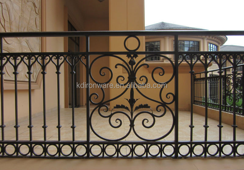 Iron window grill design metal window grills design product on alibaba - Popular Blustrades Amp Handrails Type Wrought Iron Railings