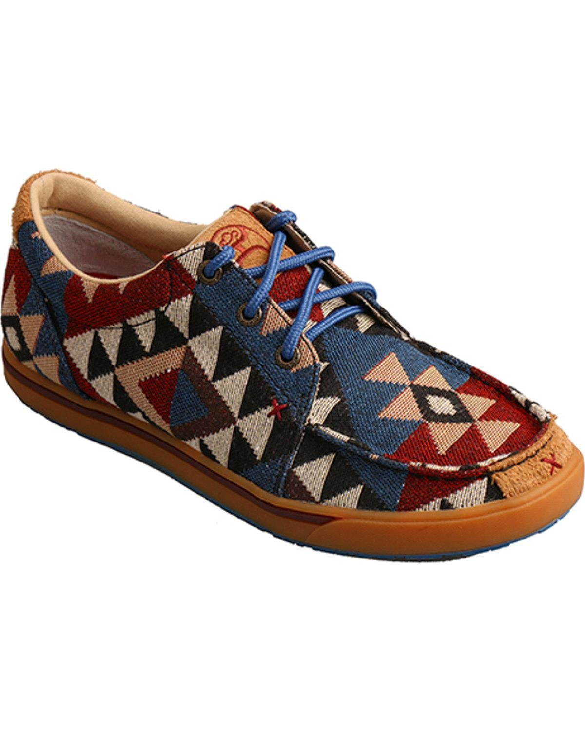 Twisted X Women's Hooey Casual Canvas Shoe Graphic Print