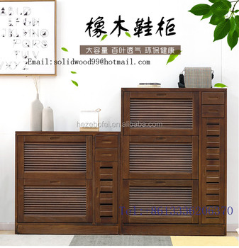 Shoe Rack Cabinet/wooden Shoe Storage Cabinet With Three Layers