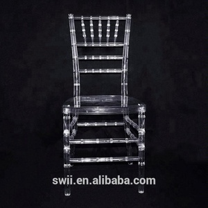 PC Acrylic clear chiavari tiffany chairs with cushions for wholesale in  China