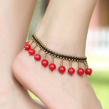 Hotwife Anklets Simple Jewellery Designs Of Anklets Gold ...