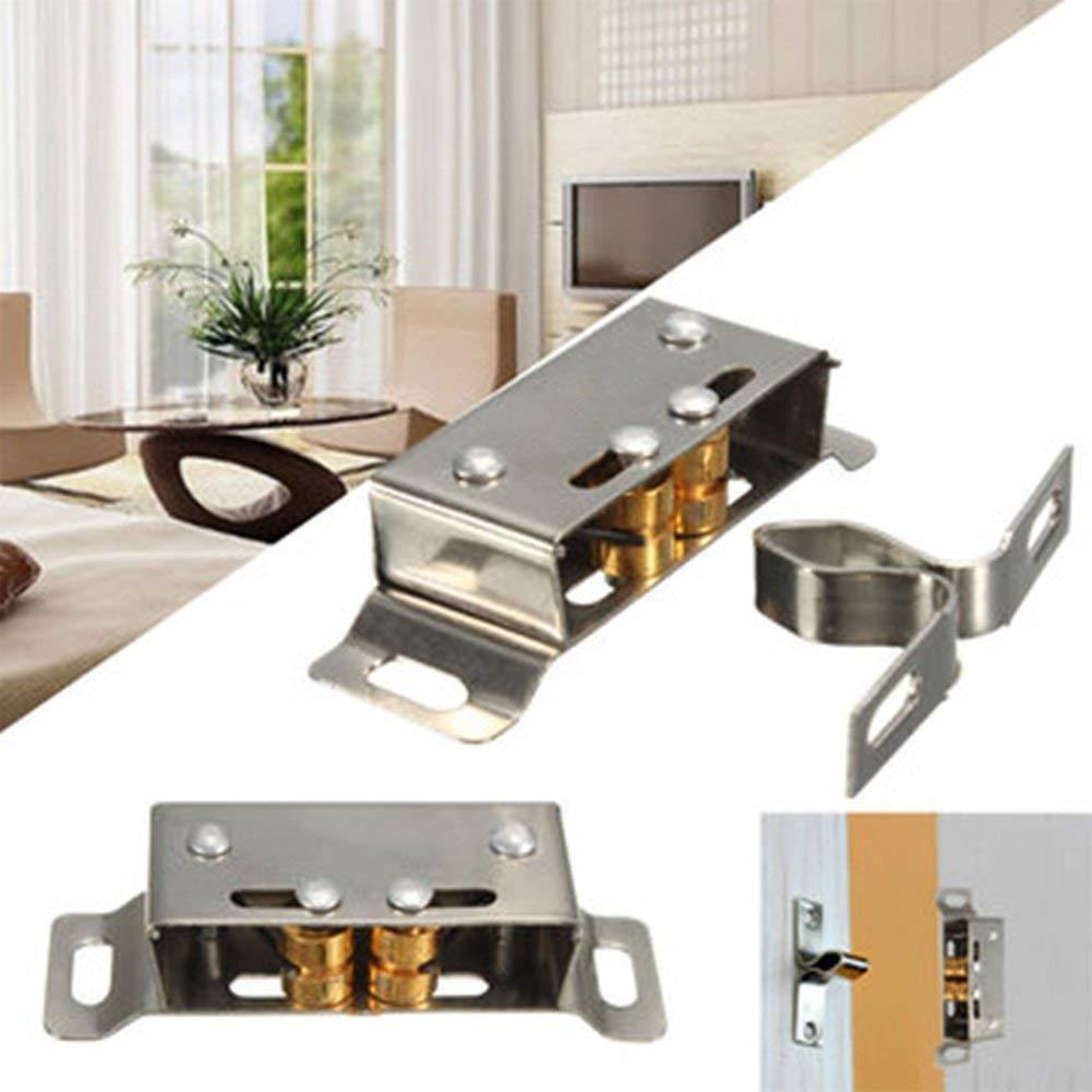 Cabinet Door Catch, Ragdoll50 Stainless Steel Heavy Duty Catch Stopper for Cupboard Cabinet Kitchen Door Latch Catches Hardware Kitchen Home Furniture Wardrobe Pull