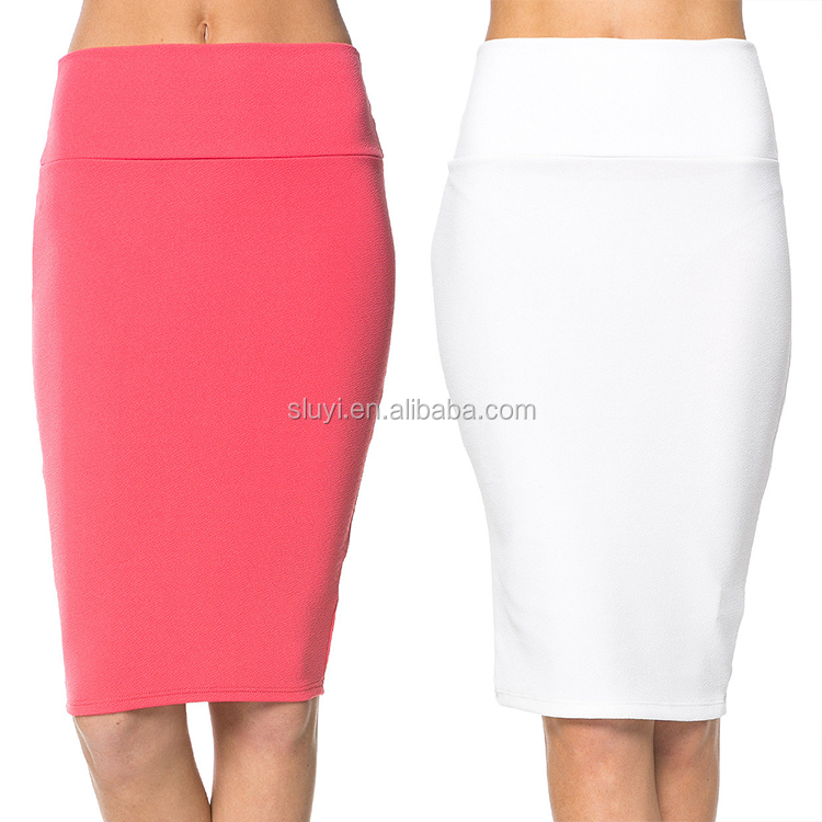 New Autumn Summer Korean Womens Office Wear Elegant Half wrap Skirt