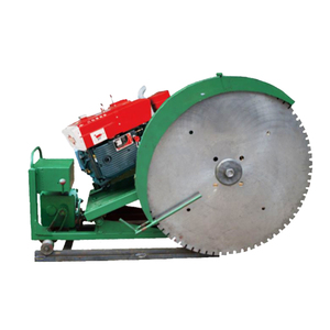 Track rail diesel quarry stone block sawing cutting machine