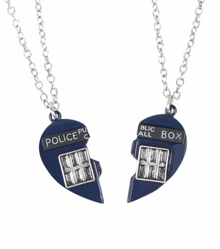 bf9250fe8a5 Doctor Who Tardis Heart Best Friend Bff Necklace Set - Buy Tardis ...