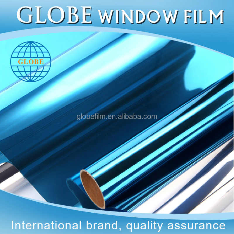Blue Color PET Self Adhesive One Way Vision Vinyl Window Film For Architecture