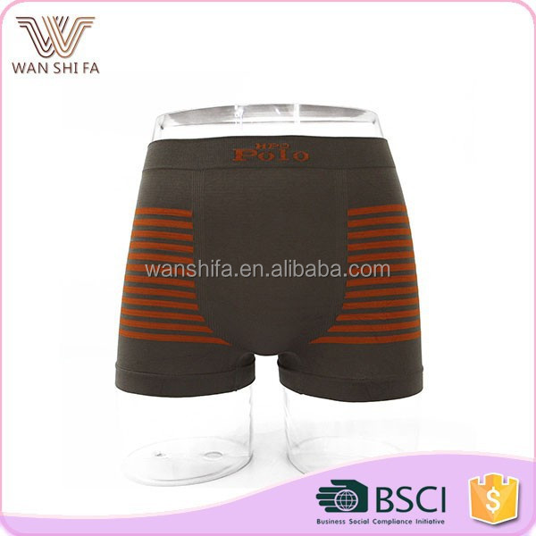 Stripe printing fashionable breathable comfortable close-fitting woven boxer brief