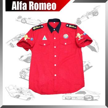 nouveau style 2014 f1 narscar coton rouge logo de voiture shirt de course d 39 t manches. Black Bedroom Furniture Sets. Home Design Ideas