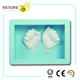 3D Baby Cast in photo frame for Boy/Girl handprint or footprint