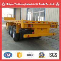 Brand New 30T Low Flat-bed Semi-trailer Price/China Truck Trailer Long Vehicle For Sale