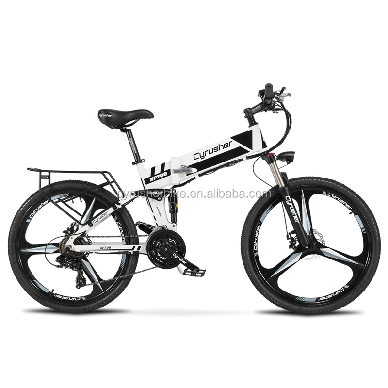 Cyrusher Xf700 Mans Folding Electric Bike Mountain Full Suspension