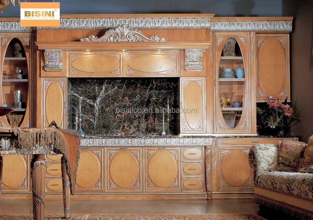 Victorian Style Kitchen Furniture Set,Luxury Hand Carved Kitchen ...