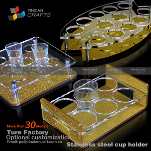 plexiglass beverage holder night club acrylic cup holder stands cup stand