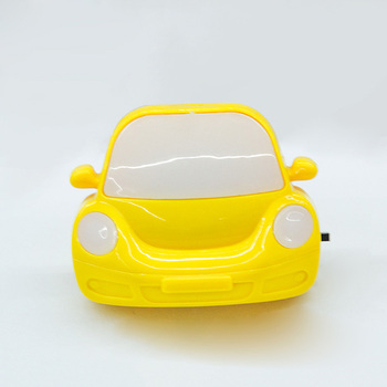 toy car yellow  color side switch  energy saving night lamp