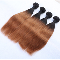 Medium atural Straight Brown Remy Brazilian Hair