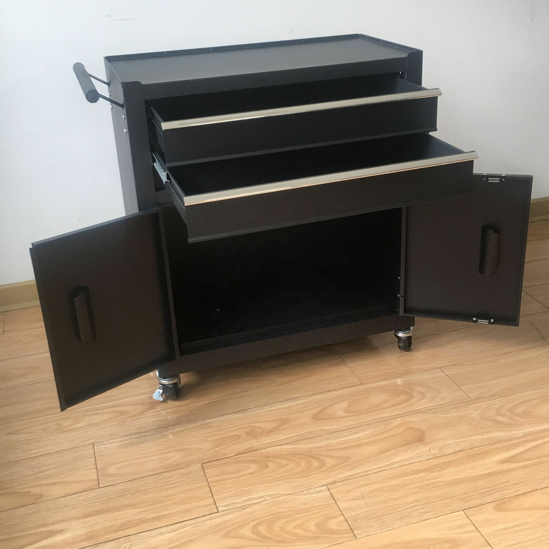 2 Drawers and 2 doors cheap metal Cabinet Chest Trolley