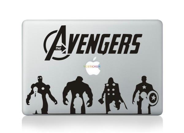 New poroduct 3d laptop skins superhero stickers custom die cut vinyl for macbook