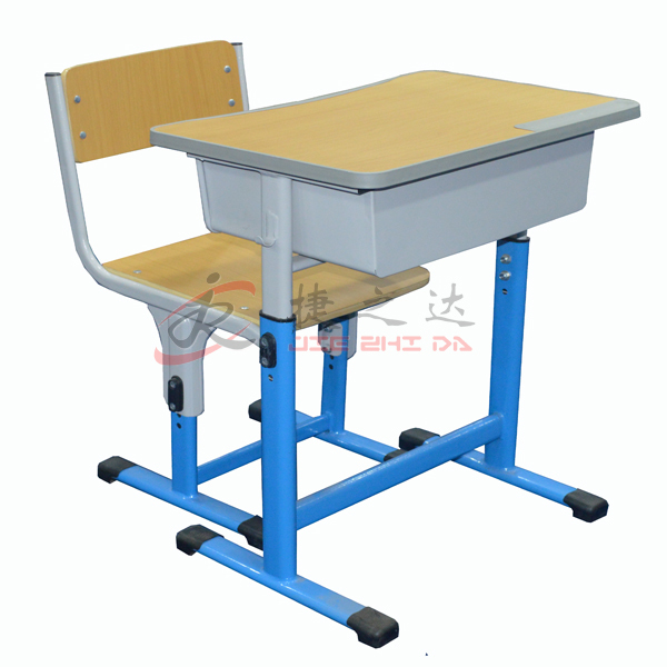 wholesales high adjustable professional student wooden/plastic school desk and chair design