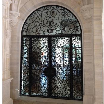Antique Wrought Iron Arch Main Door Model Double Door Gate Design For House