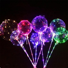 Grosir Pesta Dekoratif Bersinar Berkedip LED String Light Up LED Balloon Light