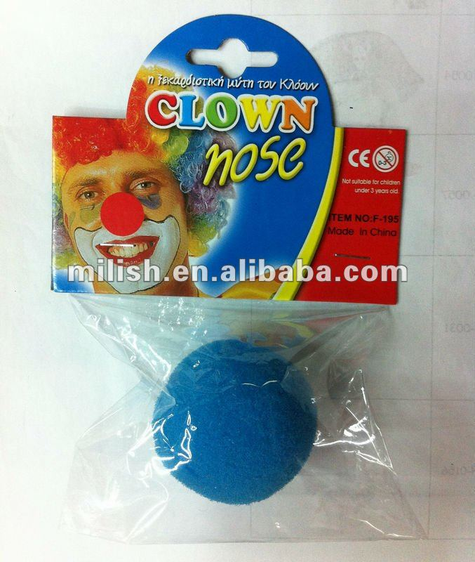 HOT Selling foam party fake blue clown nose HH-0141