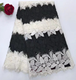 latest guipure cord lace high quality 100 cotton softer TS260-5 white with black