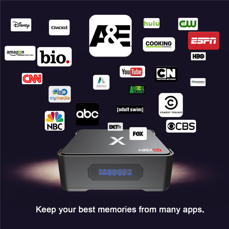 Excel Digital A95X Max Expandable Hard Drive Design Amlogic S905X2 Android TV Box 3D 4K Smart Tv A95X Max