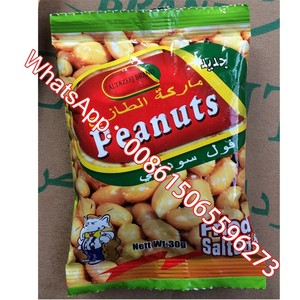 roasted blanched peanuts salted with 25g small plastic bag packing