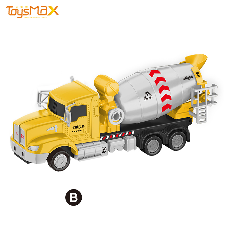 1:46 Scale 2019 New US Popular Pull Back Alloy Engineering Truck Toys Battery operated Die Cast Model Truck
