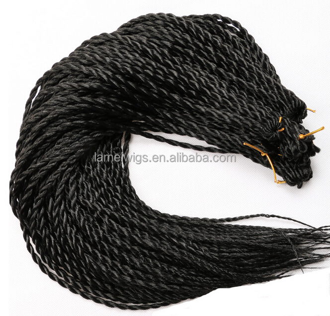 F6680 synthetic braiding hair,senegalese twist hair,nubian twist braid hair