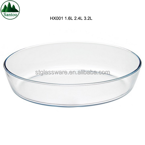 Microwave Impact&Heat Resistant Oval Tempered Borosilicate Glass Bake Dish