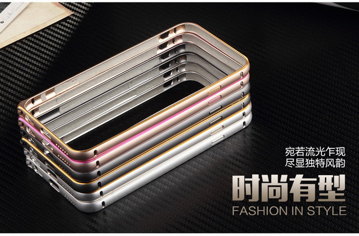 Hotselling for iphone 6 metal aluminum bumper double color