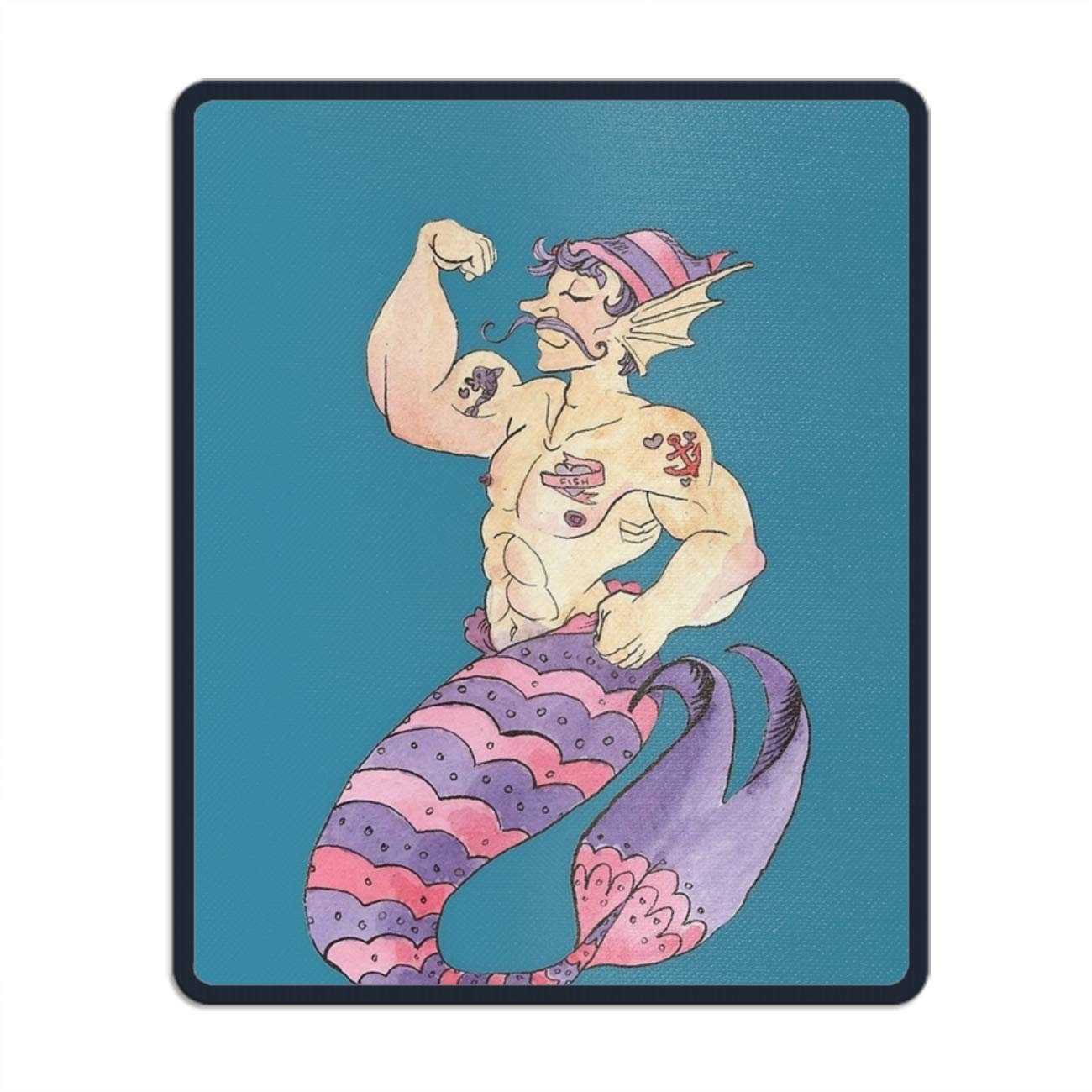 Palette Sailor Merman Mouse Pad Funny Awesome Customized, Rectangle