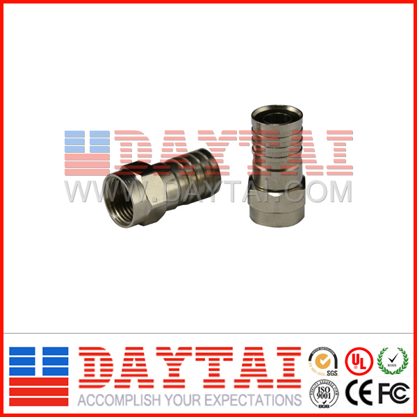 rg59,rg6,rg58 coaxial cable Male Crimp rg59 rg6 f crimp connector