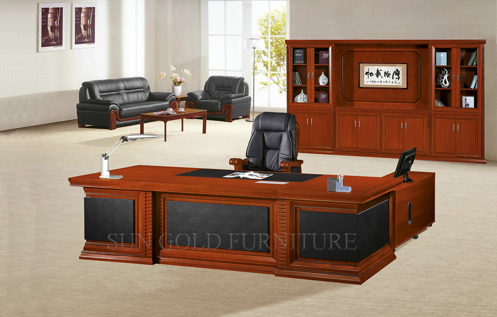 Luxury Wooden Office Table Mdf Classic Office Design Photos