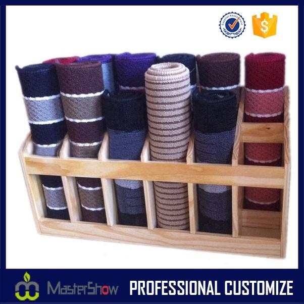 Wooden Yoga Mat Storage Rack Shelves