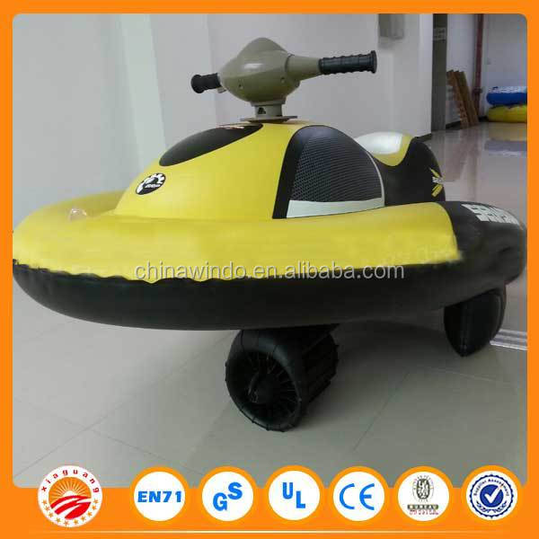 inflatable boat with outboard motor for water playing