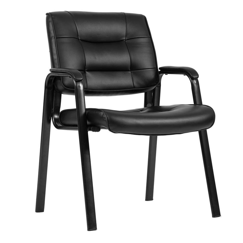 Guest Chair Reception Chairs,Conference Chairs Stack Meeting Chair Executive Chair with Arm Lumbar Support and Cushion Seat for Home Office Waiting Room
