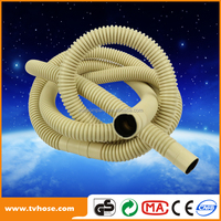 Flexible Extendable Slip Joint Extension with Nut and Washer 80mm PVC 8 PACK flexible pvc drain pipe