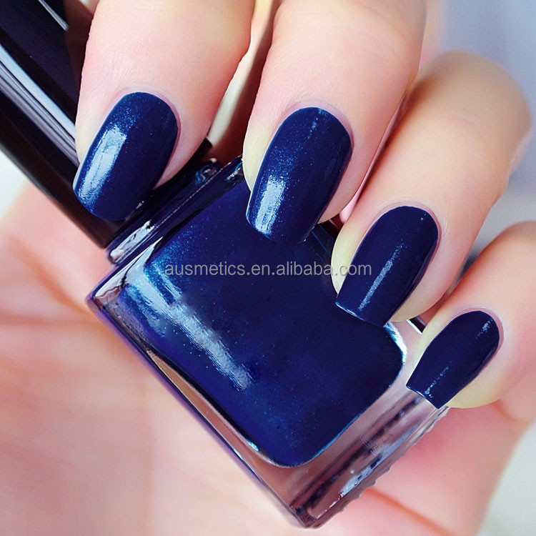 Manufacture Custom Private Label Dark Blue Nail Polish Top Lady Non Toxic Gel Nail Polish Buy