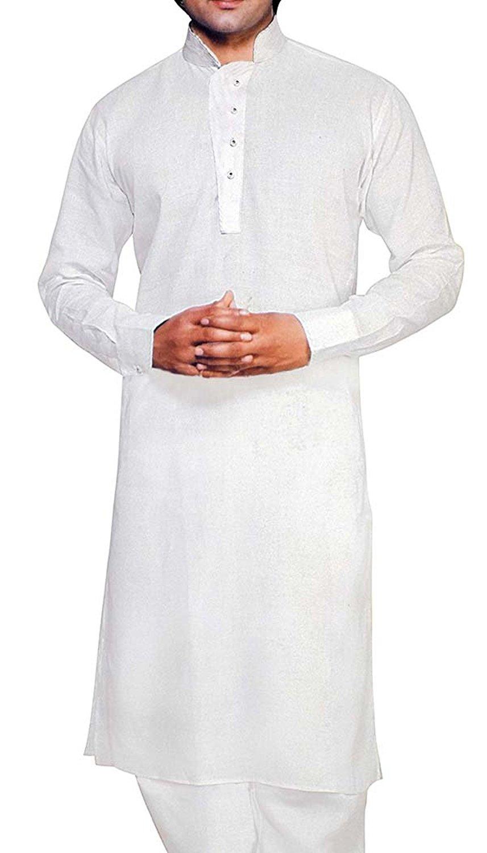 a4c898e0ebc0 INMONARCH Mens White Linen Kurta Pyjama Paisley Emboirdery KP0503 Men