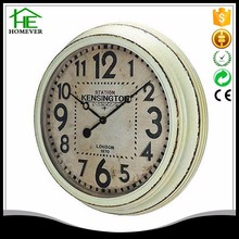 customize 25 inch shabby chic London style white wall clock
