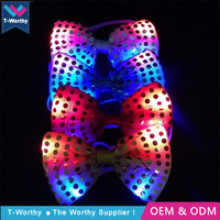 2018 Christmas Alibaba China Hot Light Up Flashing Event Party Led Bow Tie