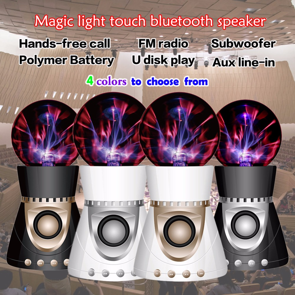 New Product 2017 Portable Speaker Wireless Bluetooth Portable Bass Speaker with LED Light for MP3 iPhone iPad iPod