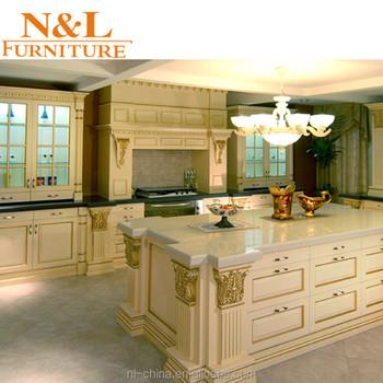 China Supplier Luxury Kitchen Furniture Wooden Kitchen Cabinets Teak