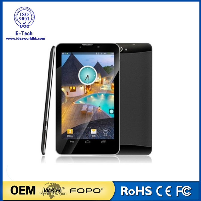 Cheapest Dual core 7 inch 3G Tablet with FM Bluetooth GPS tablet PC