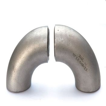 DIN 1.4845/1.4550 stainless steel pipe fitting elbow