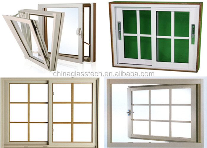 Customized Interior Special French Champagne Color Aluminum Sliding Window With Security Bars